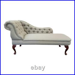 York Stone Linen Tufted Chesterfield Chaise Lounge Sofa Bedroom Chair Bench